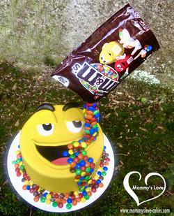 M&Ms Anti-Gravity Cake