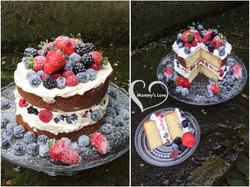 Four Berries Naked Cake