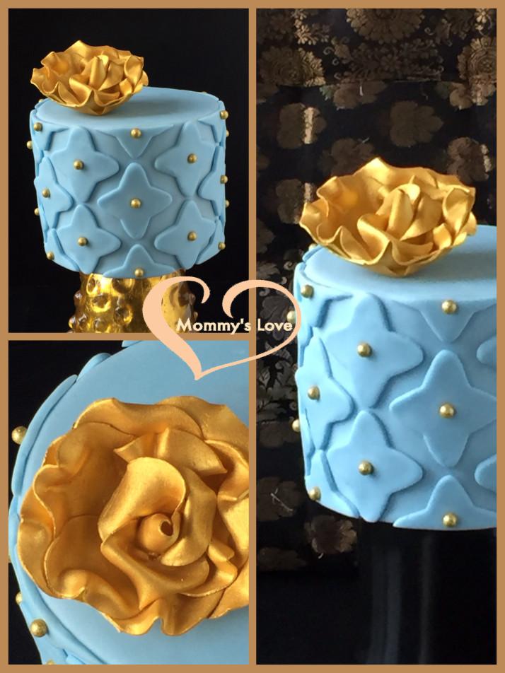 Ice Blue & Gold