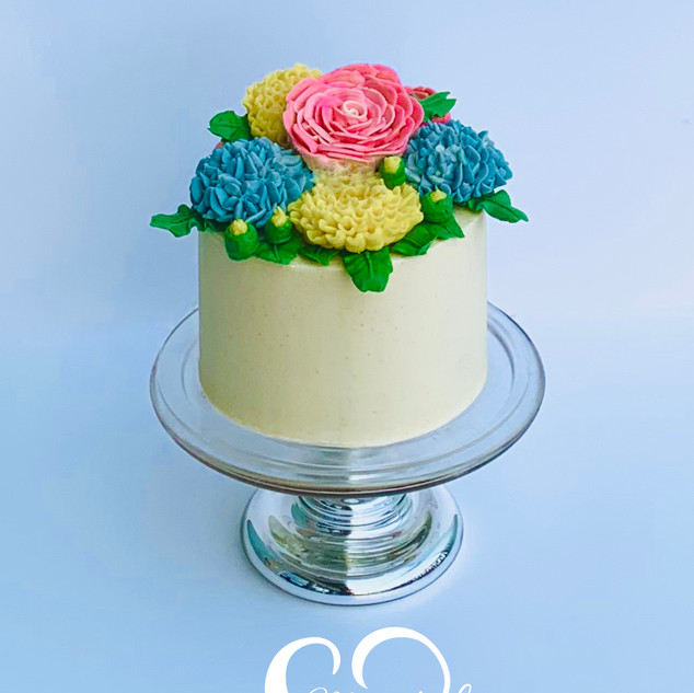 Spring Bouquet Cake
