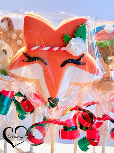 Christmas Reindeer, Lady-Foxy & Boy-Bear Cookies