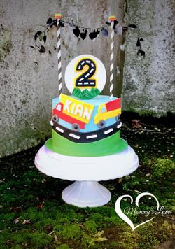 Truck Fan Birthday Cake