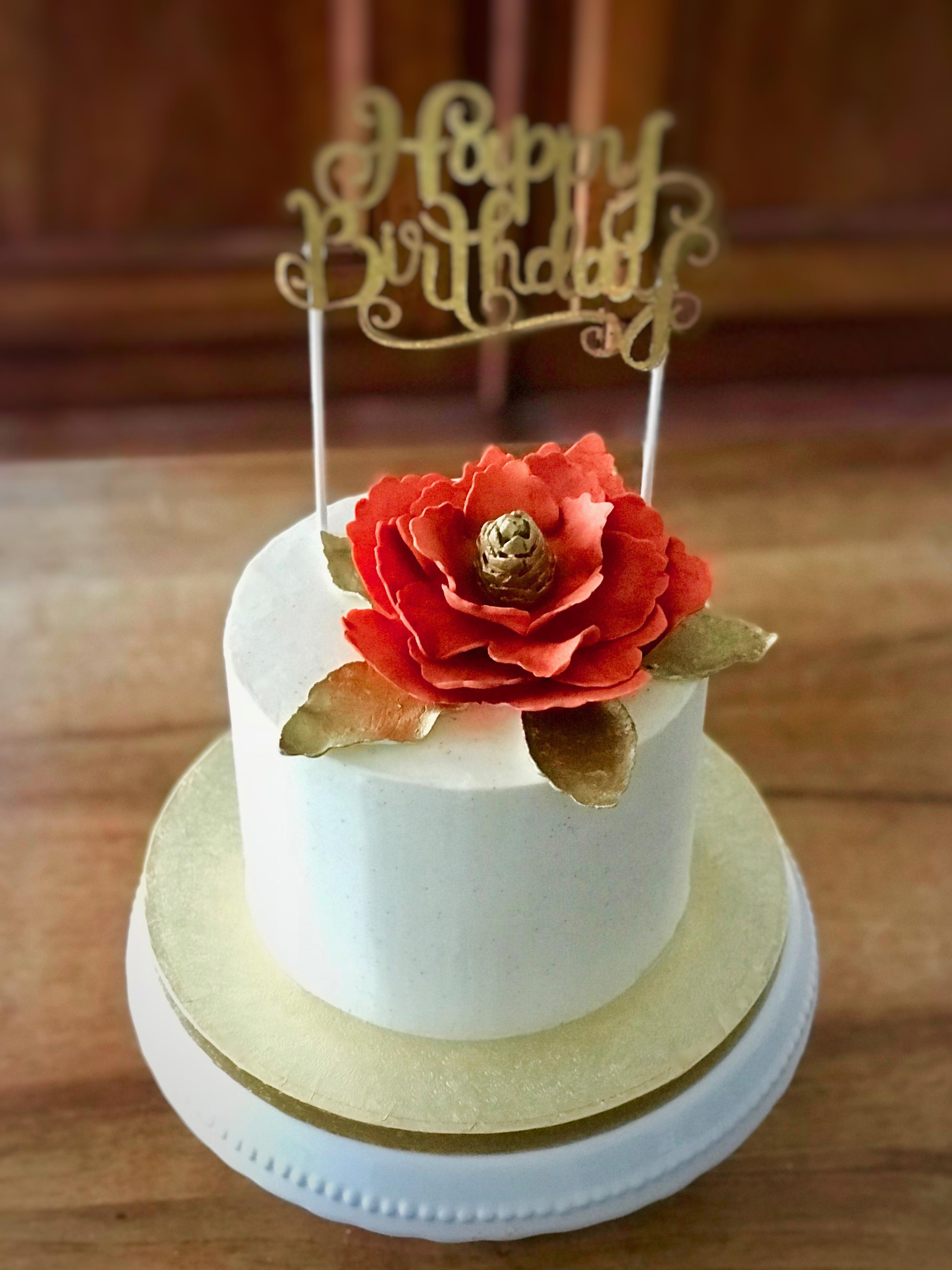 Orange Blossom Birthday Cake