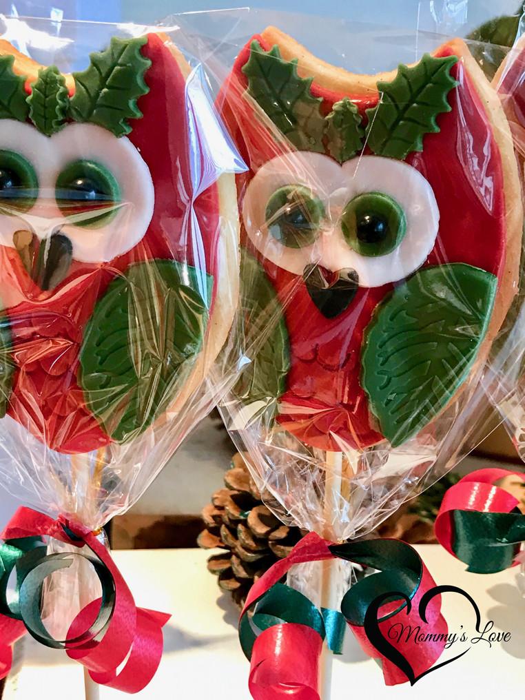 Christmas Owl Cookies