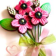 Spring Cookie Bouquet Magenta