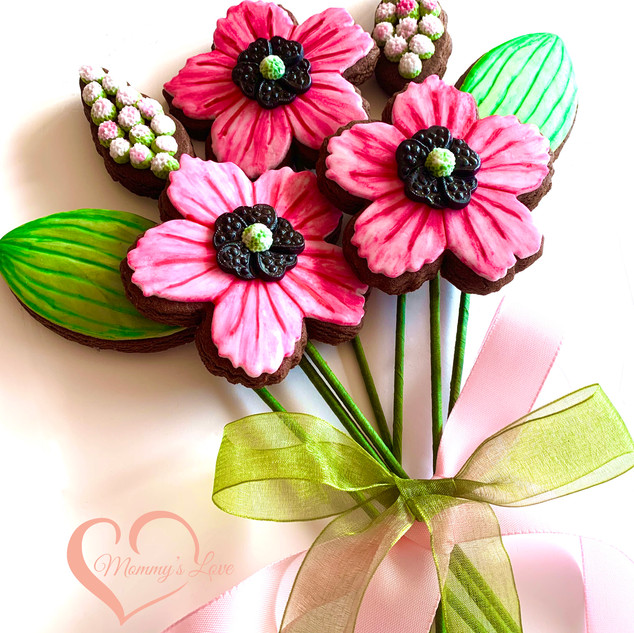 Spring Cookie Bouquet Magenta