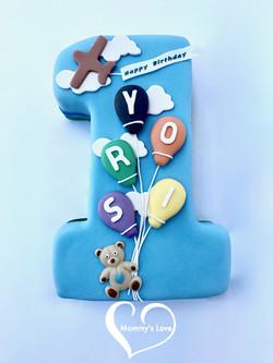 Number One 1st Birthday Cake