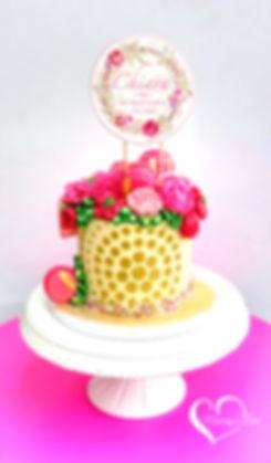 Strawberry Flowers, Macarons & Gold(W).j