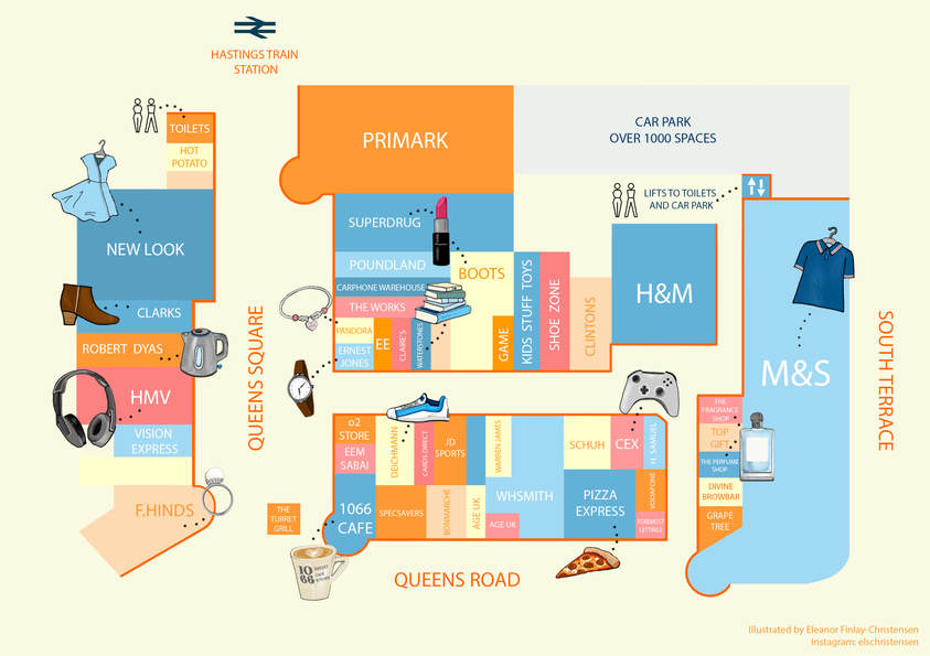 Priory Meadow Shopping Centre Map