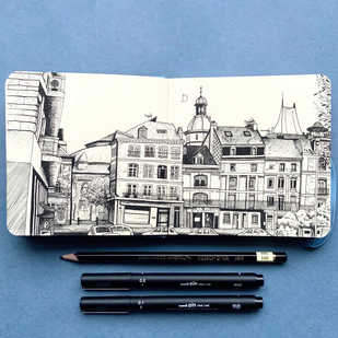 Dieppe Urban Sketch