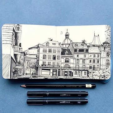 Dieppe Pen sketch