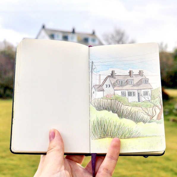 Wales, observational sketch