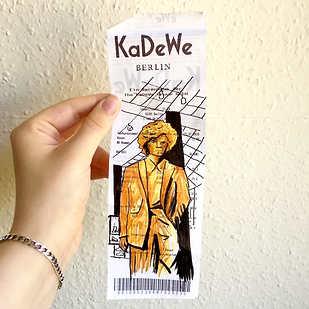 KaDeWe receipt sketch