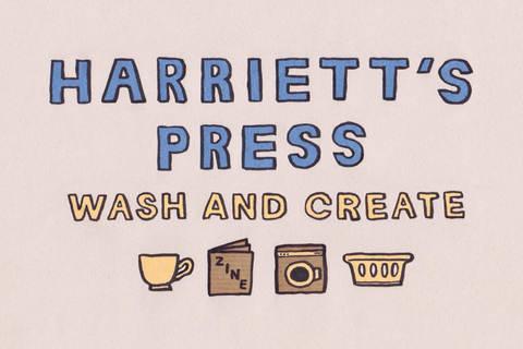 Harriett's Press Logo Design for Quiet Down There