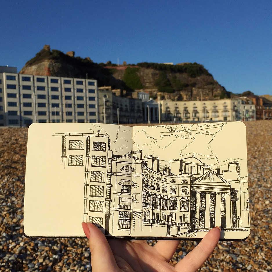 Hastings Observational Sketch