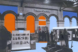 Brighton Station Ticket Office Collage
