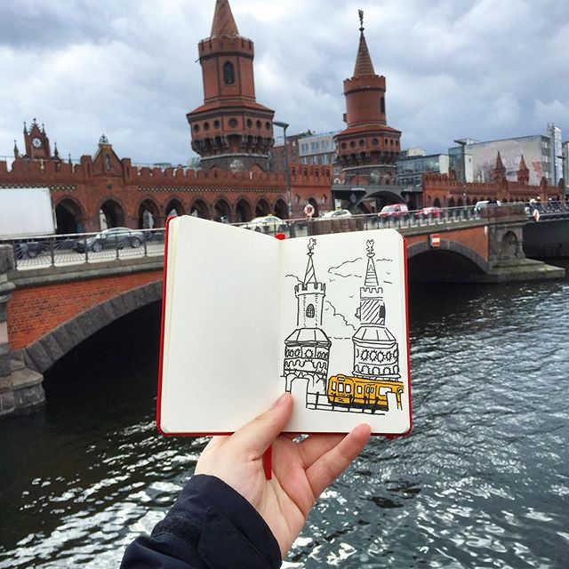 Oberbaum bridge sketch, Berlin