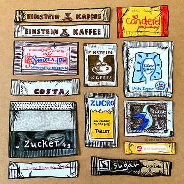 Sugar Sachet illustration