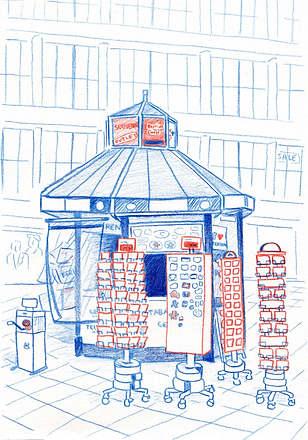 Berlin tourist kiosk