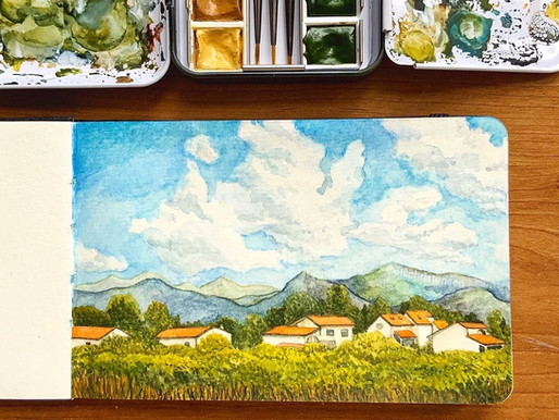 Tuscany, Watercolour Travel Sketchbook