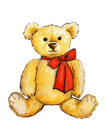Teddy bear spot illustration