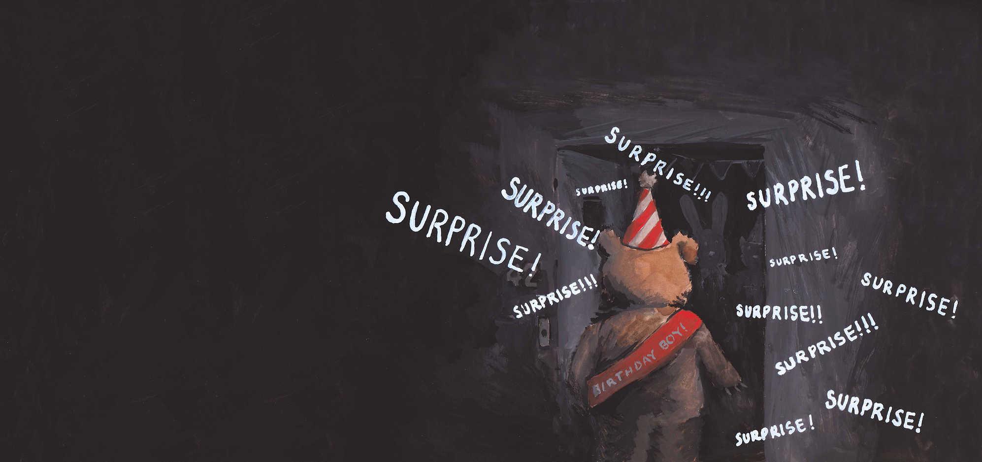 Surprise! Gouache painting