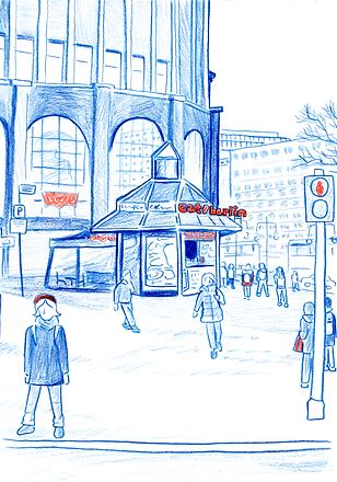 Berlin pencil sketch