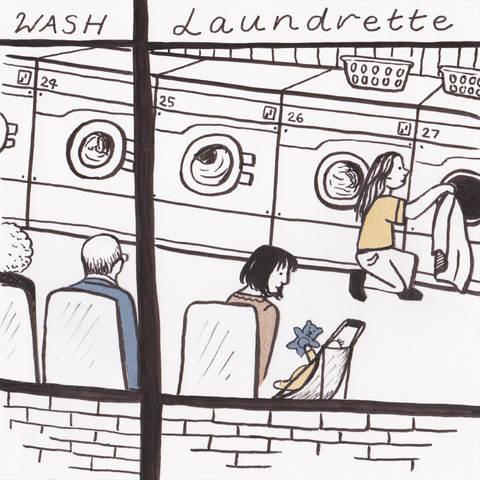 Quiet Down There Laundrette Illustration