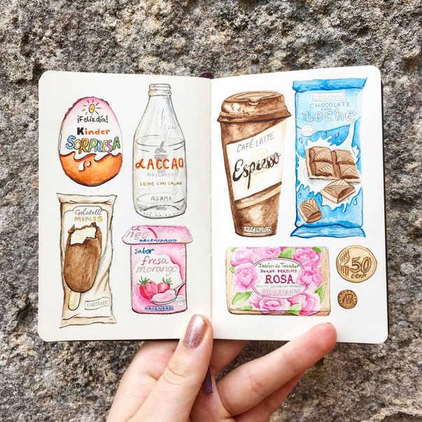 Spanish packaging illustration
