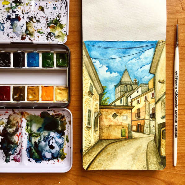 Mallorca Sketchbook page