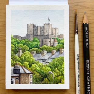 Dover Castle Watercolour Illustration