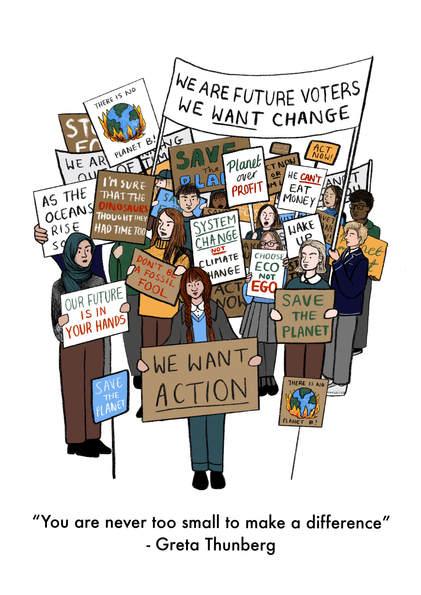 School Strike Illustration