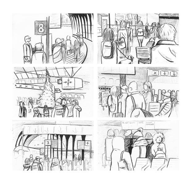 Brighton Station sketches