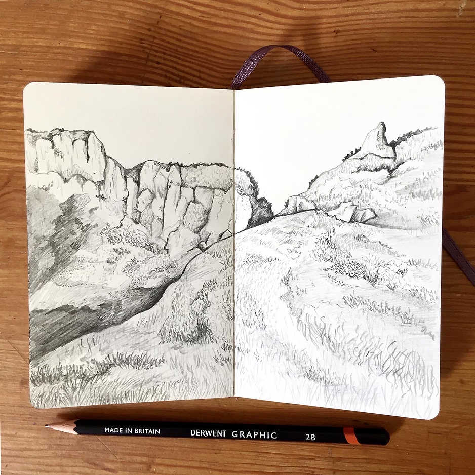 Welsh Countryside sketch