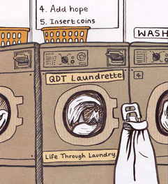 QDT Laundrette Logo 2021 - Alternate colour version