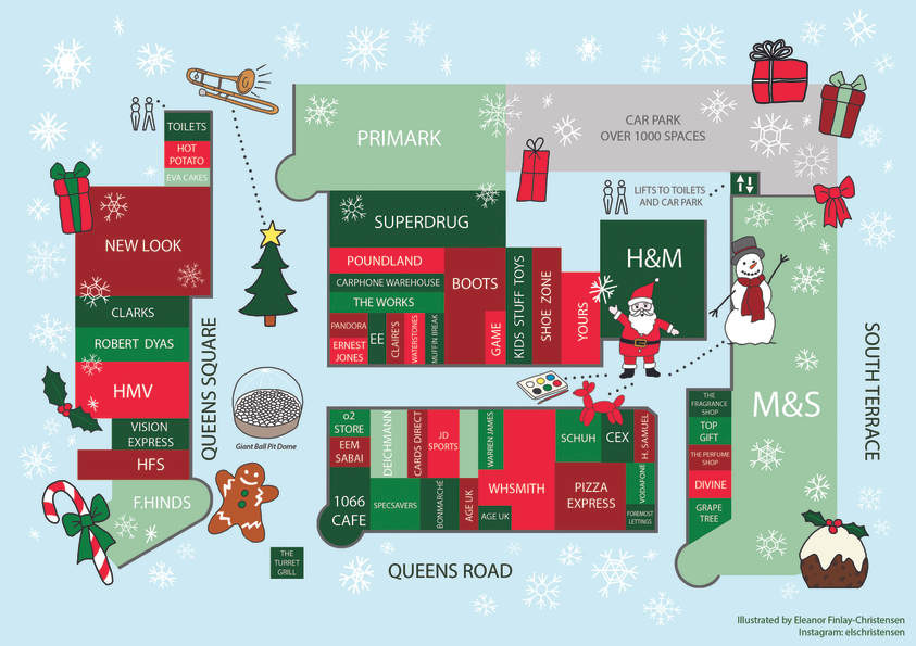 Priory Meadow Shopping Centre Christmas Map