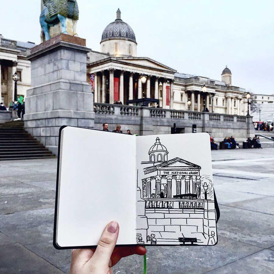 National Gallery Sketch, London