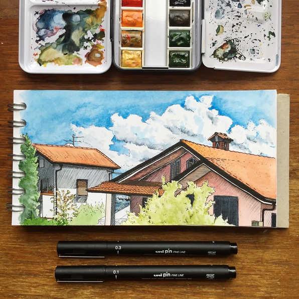Houses in Tuscany, Italy