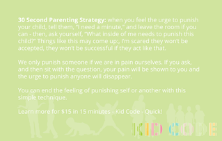 30 Second Parenting Strategies