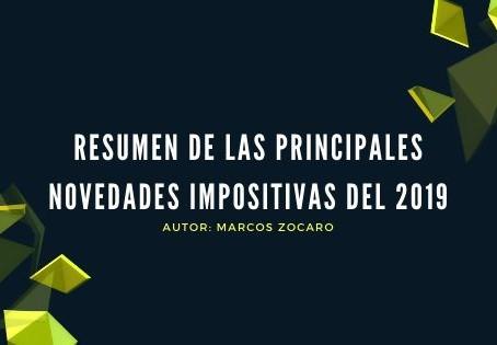 RESUMEN DE LAS PRINCIPALES NOVEDADES IMPOSITIVAS DEL 2019