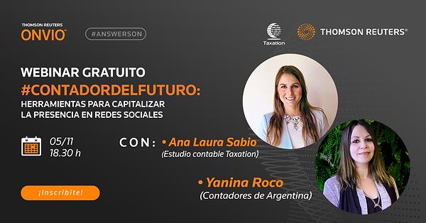 ONVIO - ANA LAURA SABIO -THOMSON REUTERS - CONTADOR DEL FUTURO
