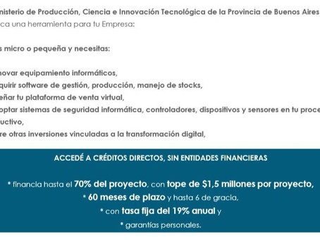 Créditos para la Transformación Digital Bonaerense (TDB)