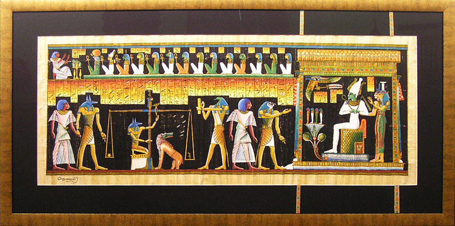 Papayrus painting from Egypt