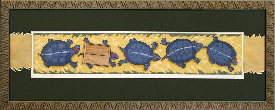 Box Turtles by Yvonne Davis