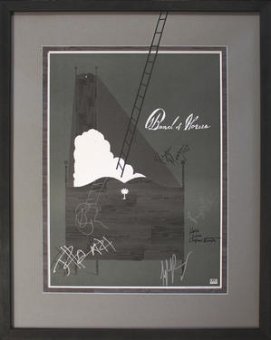 Band of Horses signed poster