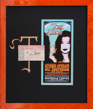 Tori Amos poster and ticket