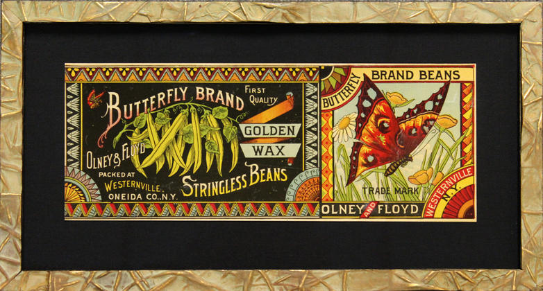 Butterfly Brand vintage label