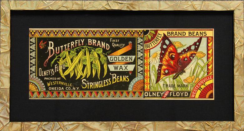 Butterfly Brand vintage label
