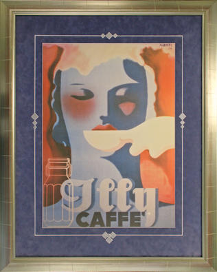 Illy Cafe vintage graphic