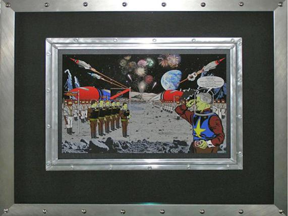 Custom rivet frame and mat